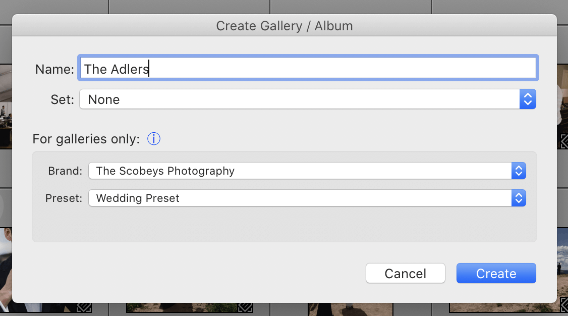 A screenshot of ShootProof's Lightroom Plugin which enables photographers to upload their photos directly from Lightroom into ShootProof.