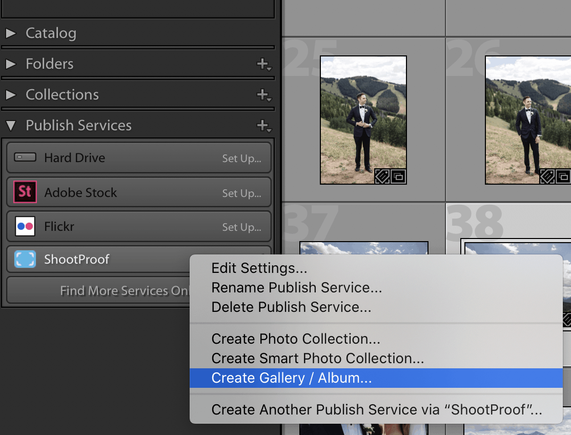 A screenshot of the ShootProof Lightroom Plugin. This Lightroom plugin makes it easy to upload photos directly into a ShootProof gallery from Lightroom.