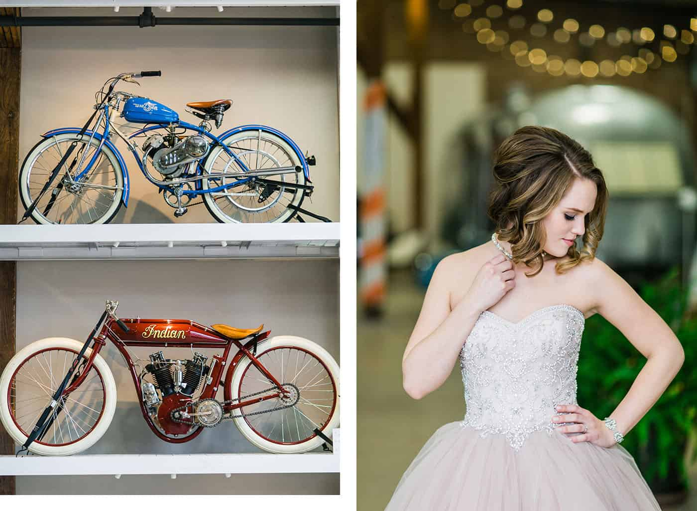 bride with vintage motorcycles rachael osborn client questions