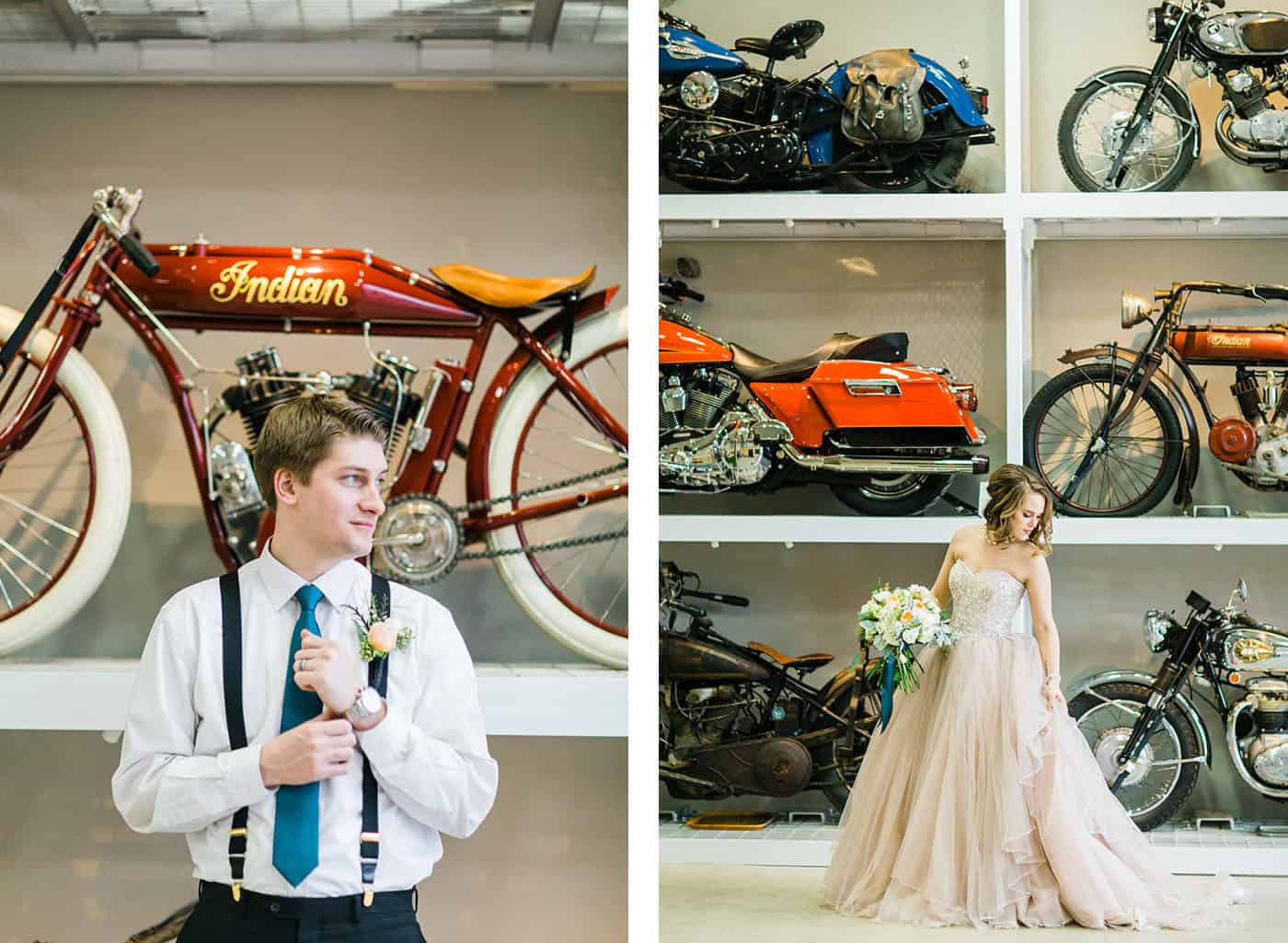 vintage motorcycles bride groom rachael osborn client questions