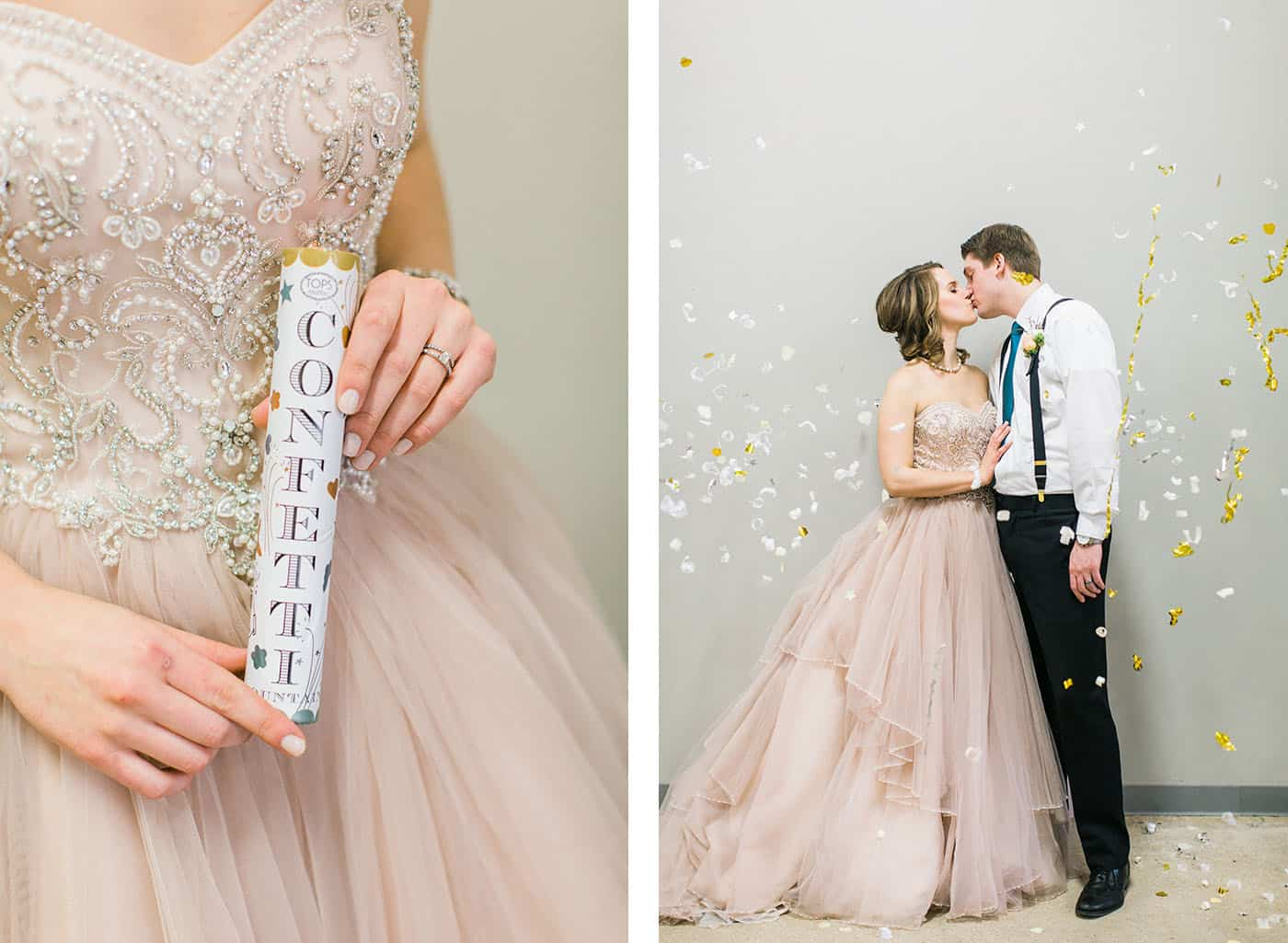 prom wedding couple kissing in confetti rachael osborn client questions