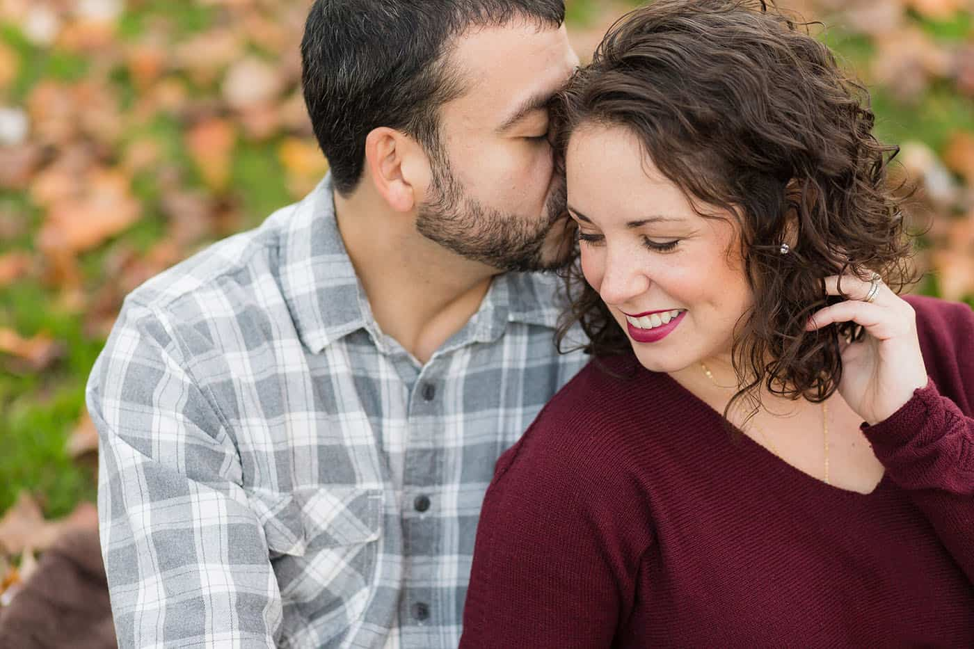 fall engagement portrait by customer service whiz cinnamon wolfe
