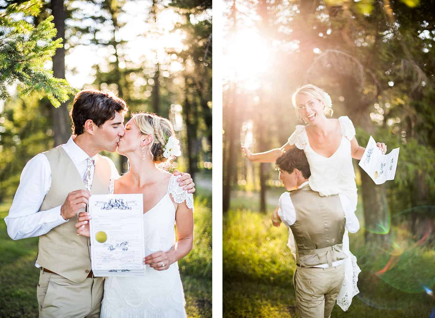how to photograph a marriage license