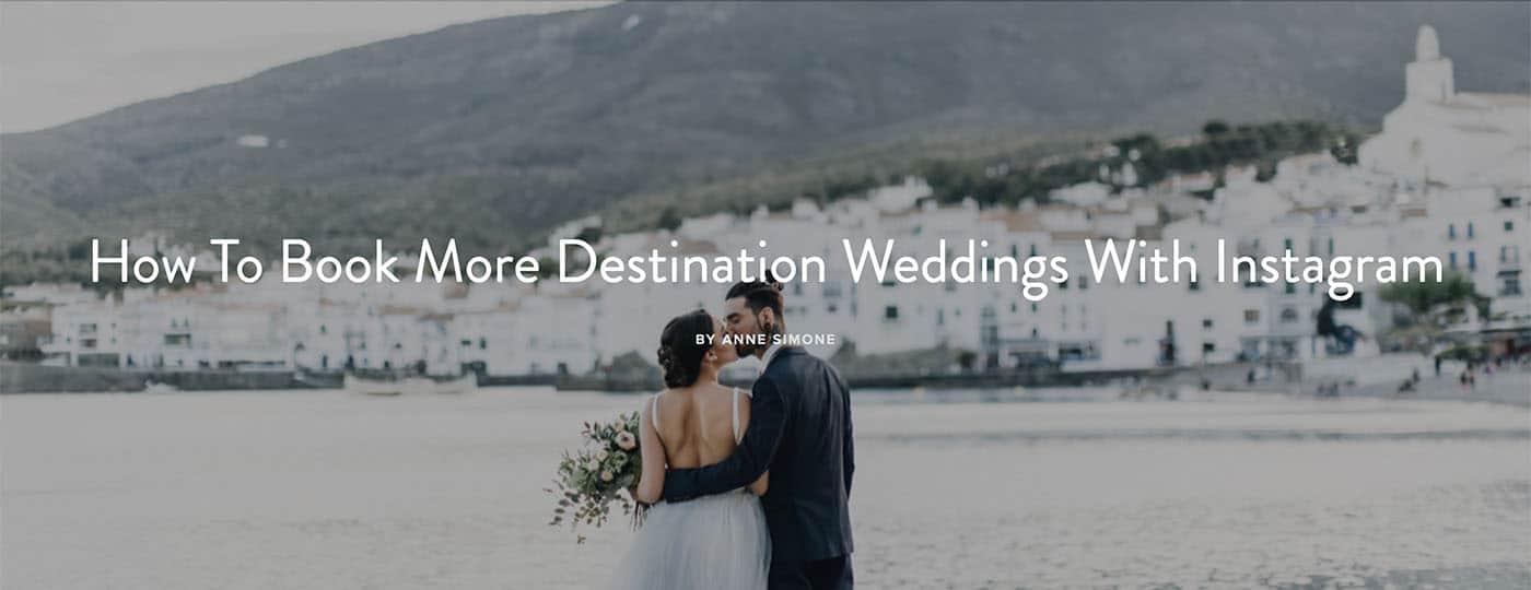 Book Weddings with Instagram