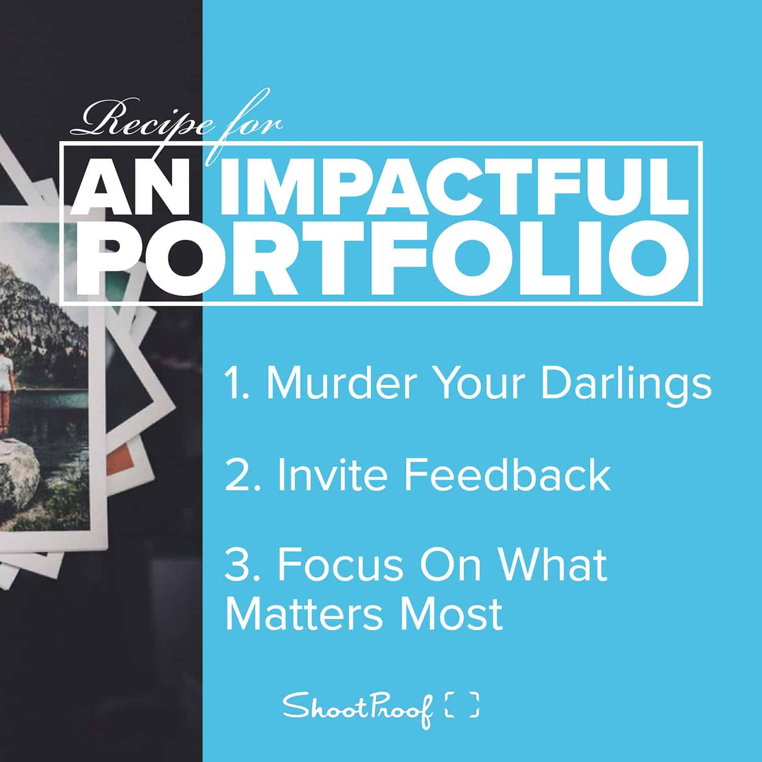 Learn Photography: Recipe for An Impactful Portfolio