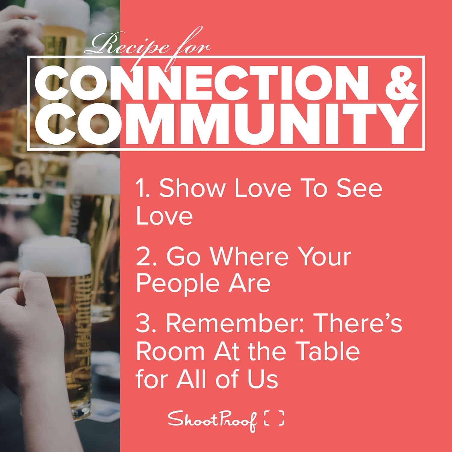 Learn Photography: Recipe for Connection & Community