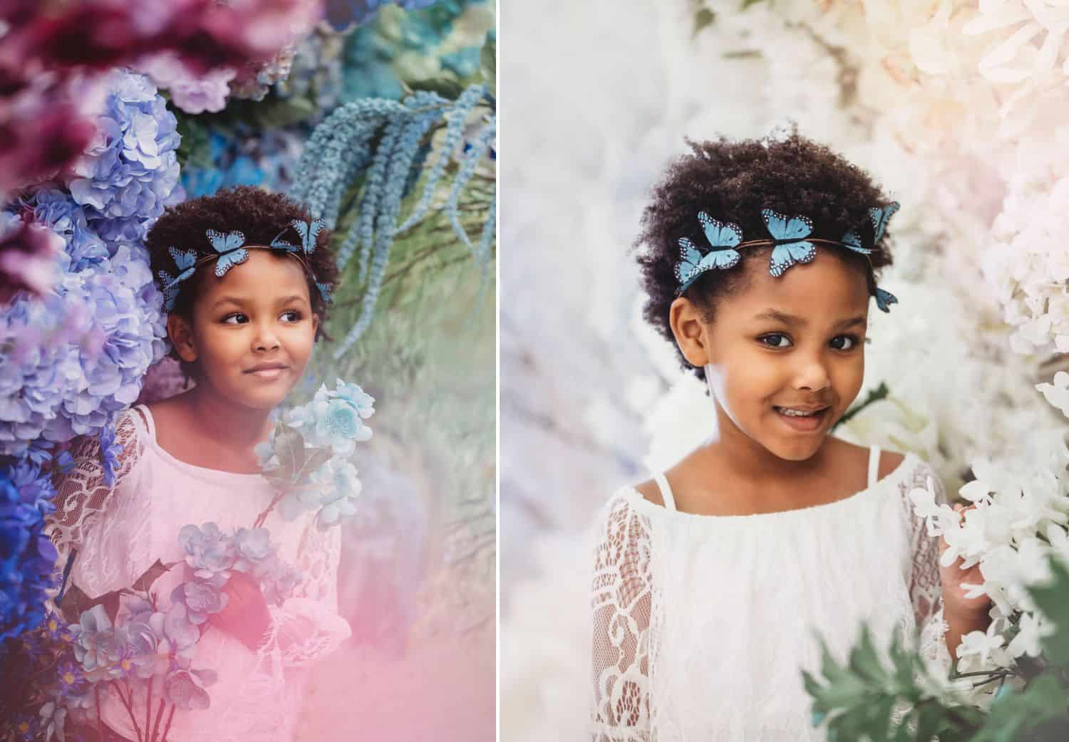 Brenda De Los Santos' photo project featuring little girls inside a Michael's store.