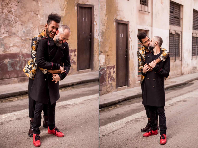 Skyrocket Your ShootProof Sales With One Easy App: Engaged couples hugging in Havana alley.
