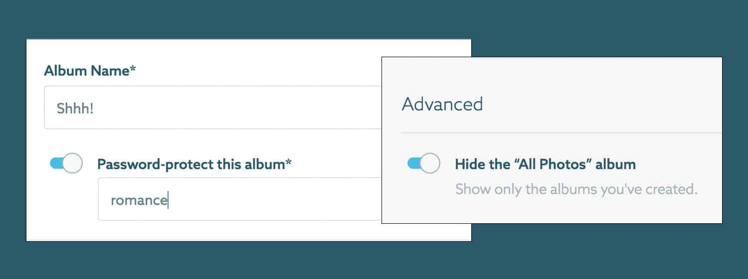 ShootProof: Create Private Albums In Your Galleries