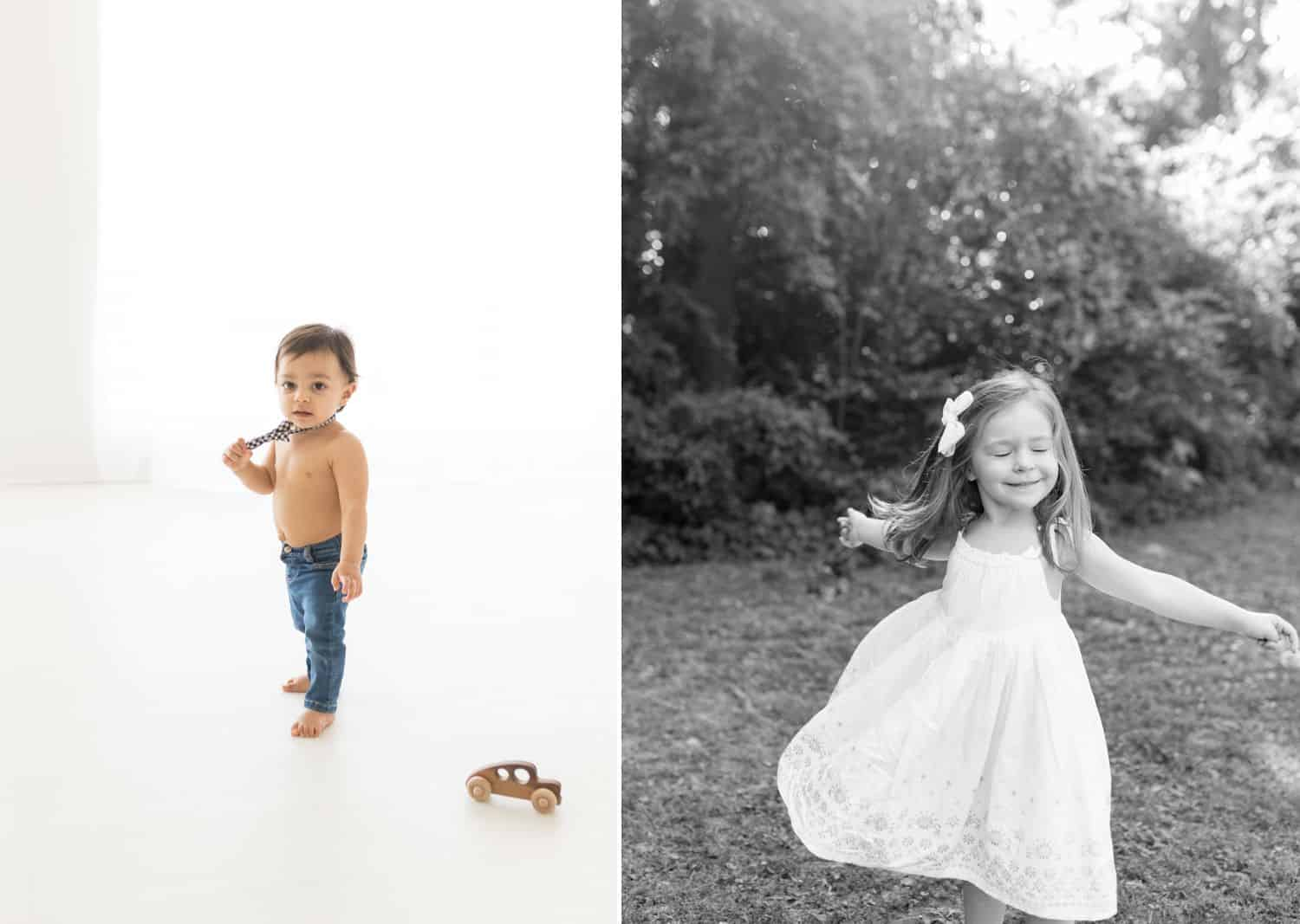 How To Get More Photography Clients? Start Saying No! - Children playing, in-studio and outside.