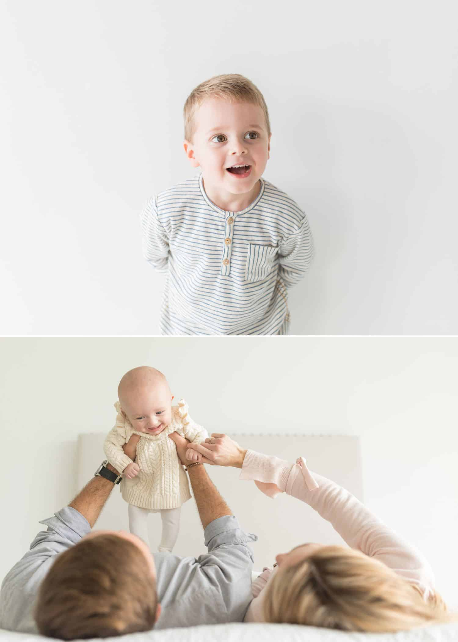 How To Get More Photography Clients? Start Saying No! - Clean and bright family photographs by Jenny Perry.