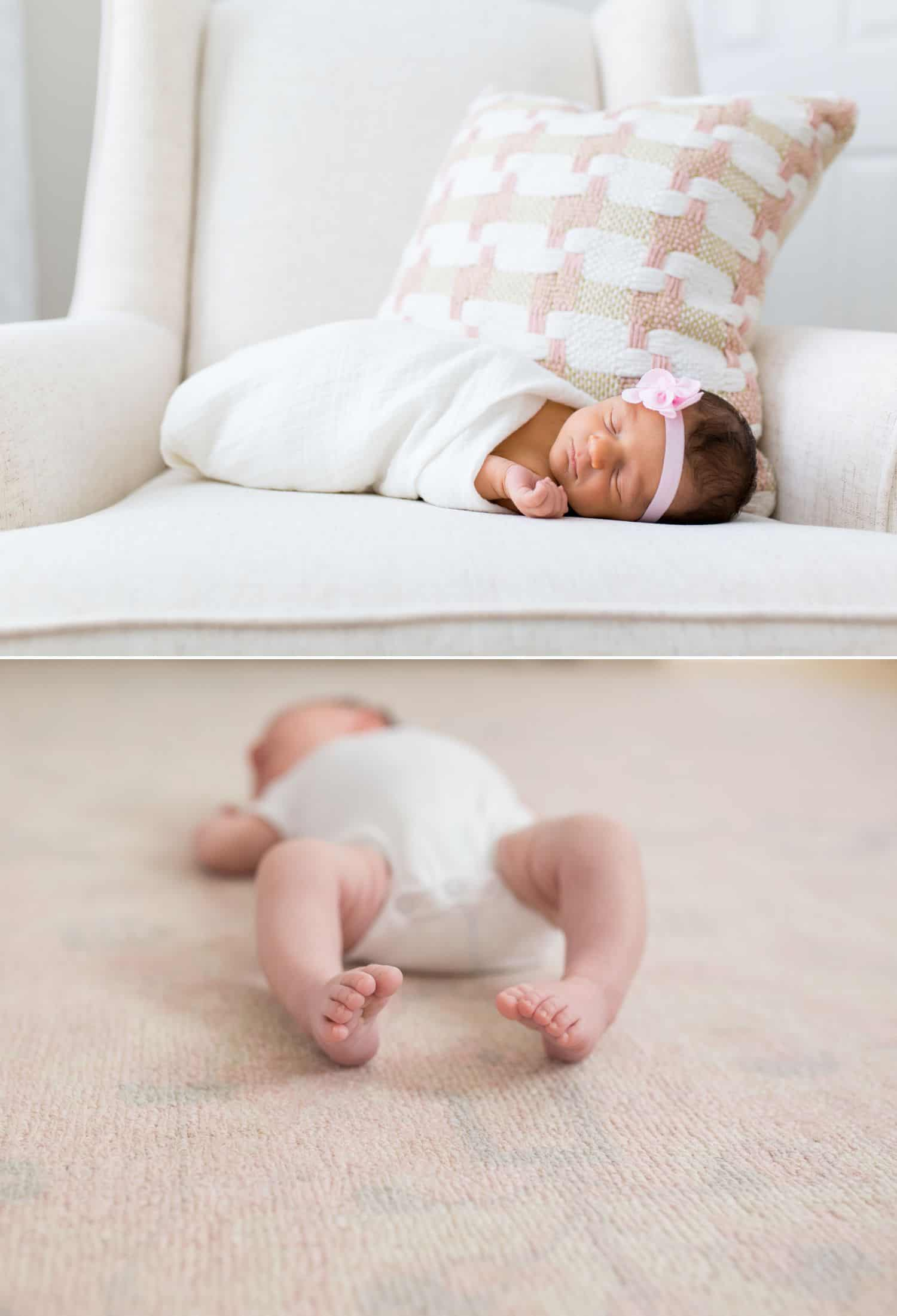How To Get More Photography Clients? Start Saying No! - In-home baby photography by Jenny Perry.