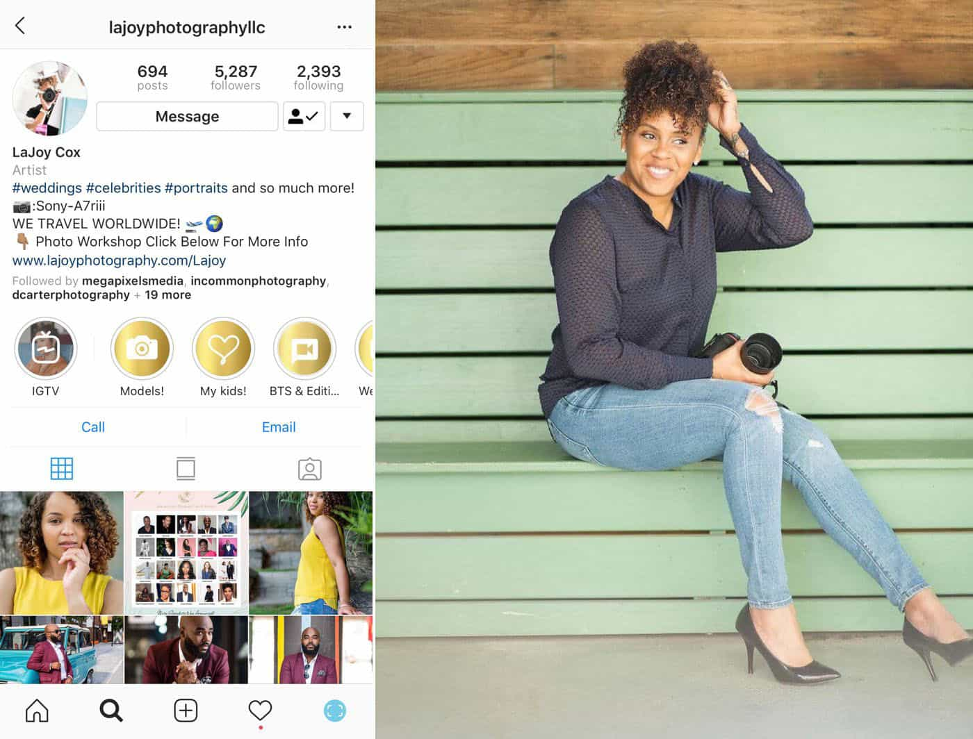 3 Simple Approaches To A Powerful Instagram Portfolio: LaJoy Cox on Instagram