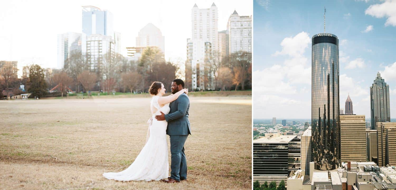 Expand Your Community, One Love Letter At A Time: Piedmont Park Wedding Portrait & the Westin Skyline