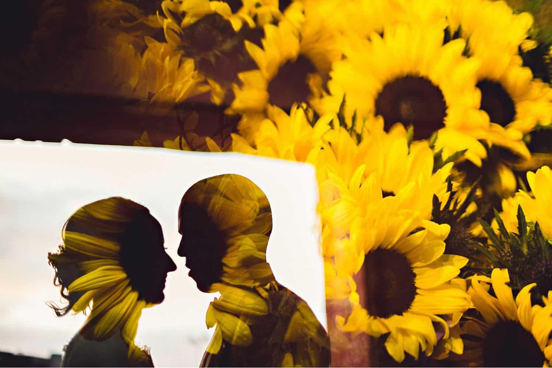 "Eirik Halvorsen: ""Your Last Photo Is the Most Important"": Sunflowers & Silhouettes Wedding Portrait"