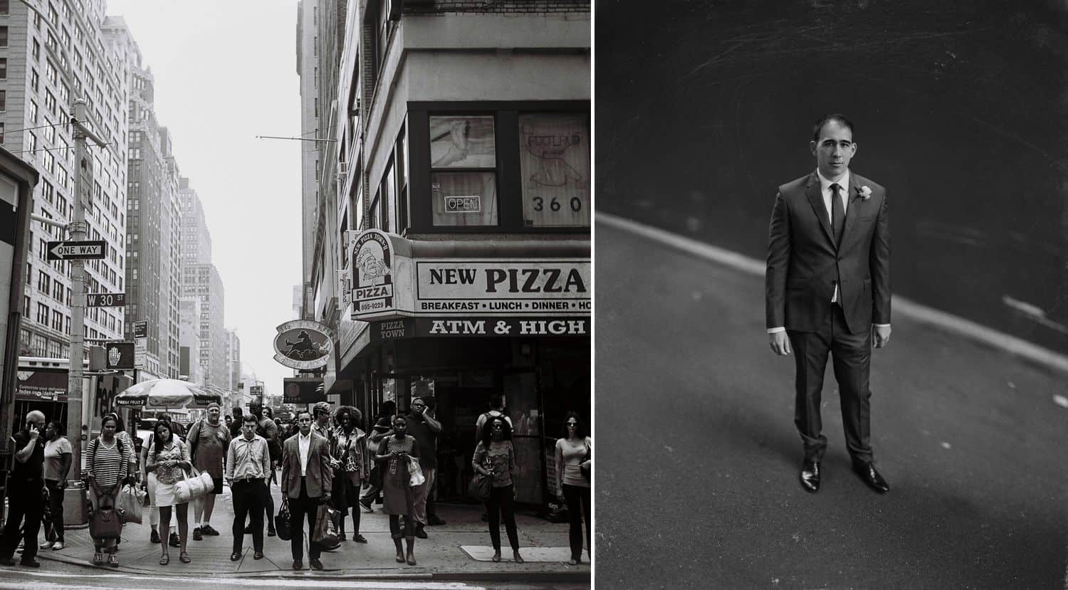 Authenticity Is Dead and Everything Is Wonderful: City Sidewalks & Businessmen In Black & White By Oli Sansom