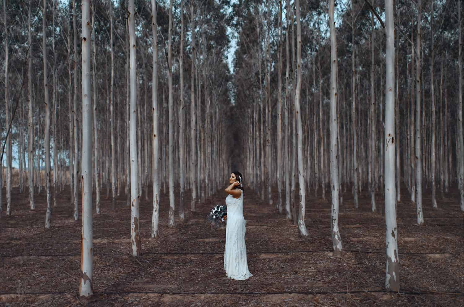 Authenticity Is Dead and Everything Is Wonderful: Bridal Portrait In The Forest - Oli Sansom