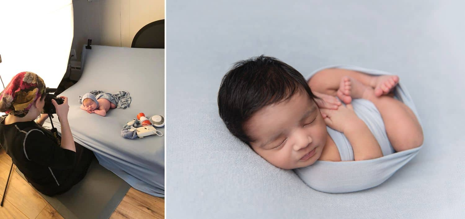Behind the Scenes with a DIY Newborn Photographer