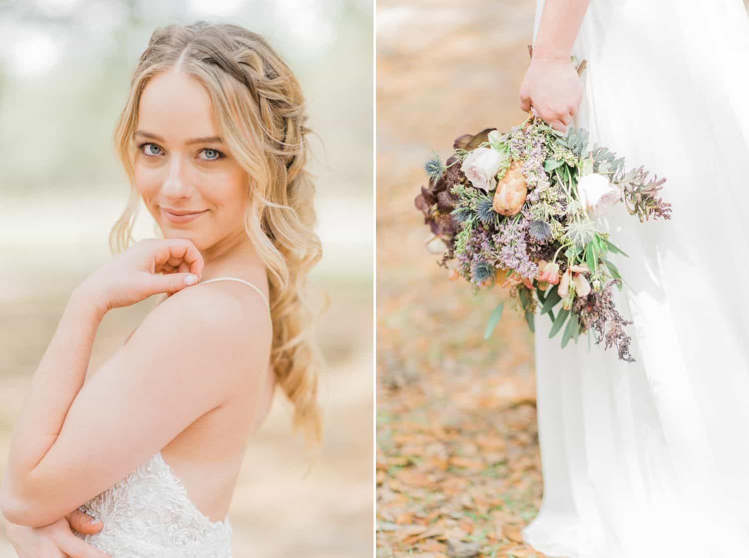 Blonde Bride with Braid and Wildflowers: Get Photography Clients with Styled Shoots