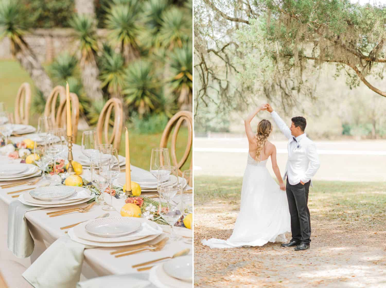 Southern Outdoor Wedding Reception: Get Photography Clients with Styled Shoots