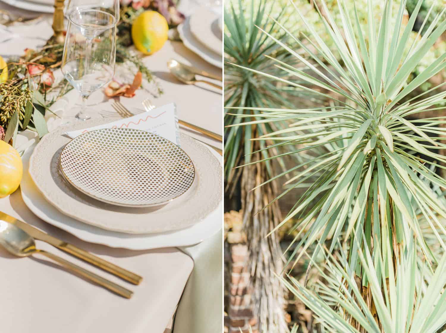 Citrus and Botanical Centerpieces at Outdoor Southern Wedding Reception: Get Photography Clients with Styled Shoots