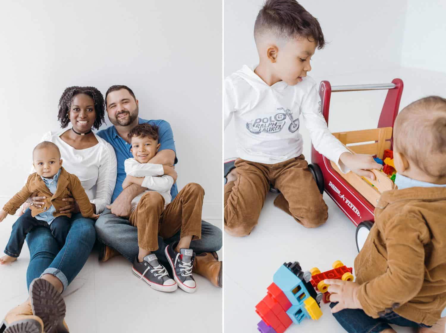 #ShootProofPro: 7 Stories for Days When You Think You Suck (Interracial family photographed in an all-white room.)