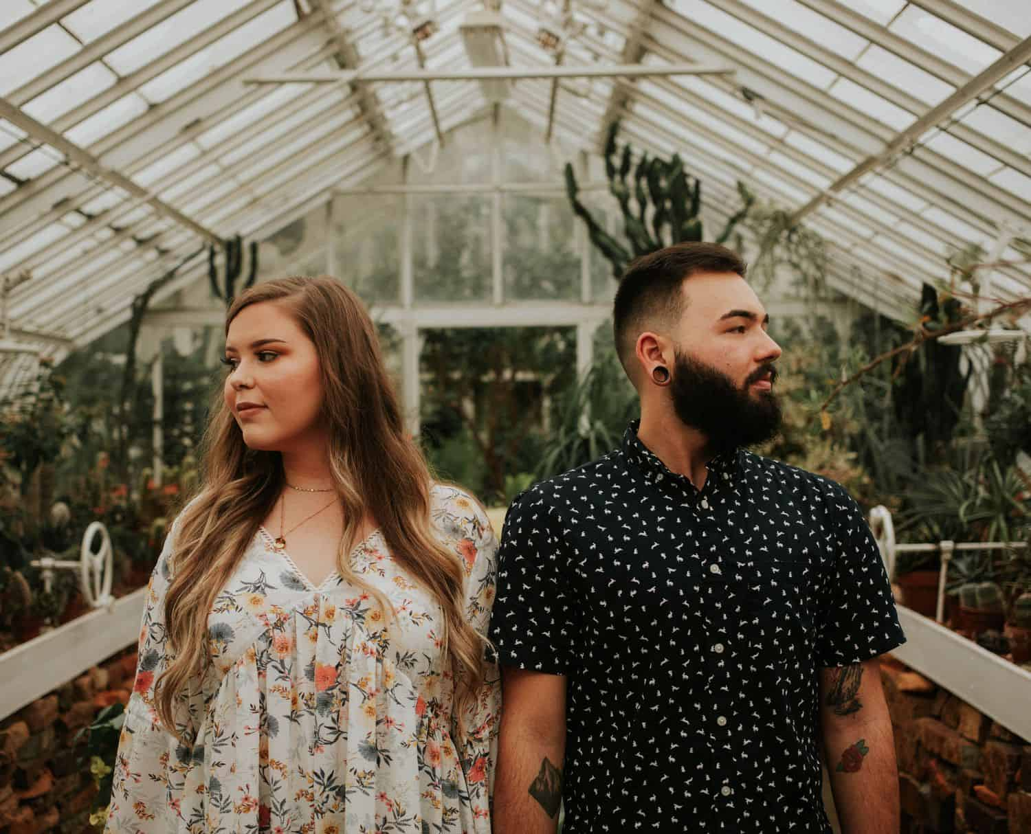 How to Talk to Clients When You're Terrified of the Telephone: Botanical Gardens Engagement Session