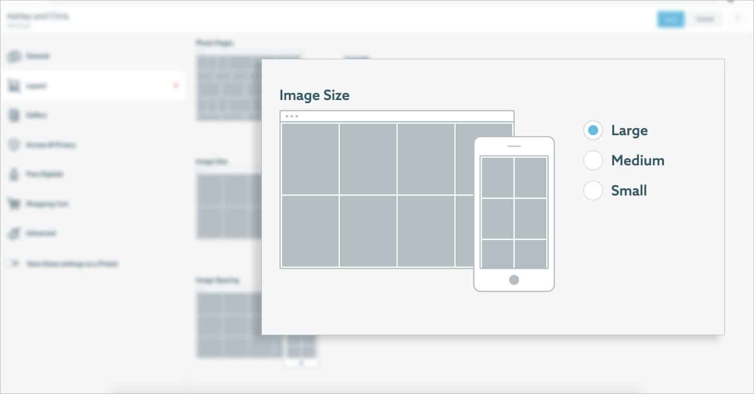 2 Creative Customizations that will Make Your Galleries Extra-Gorgeous: change the size and spacing of your ShootProof gallery photos