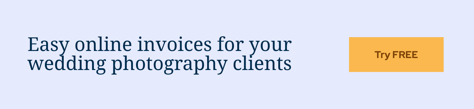 ShootProof makes easy, online invoices for your wedding photography clients
