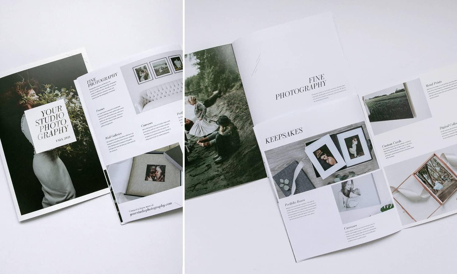 The Lookbook photography marketing template by Design Aglow