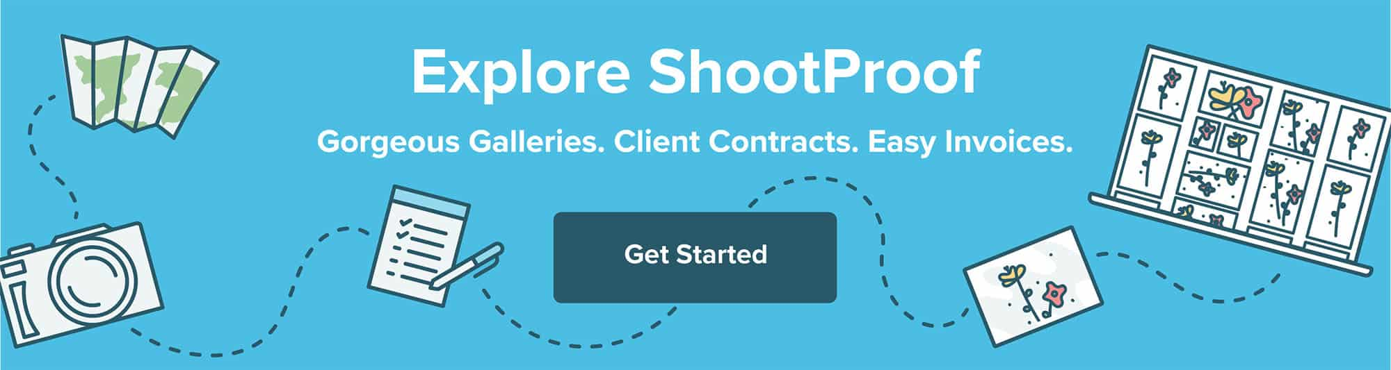Sign up for ShootProof and get gorgeous client galleries, online contracts, and easy-to-pay invoices for as little as $10 per month!