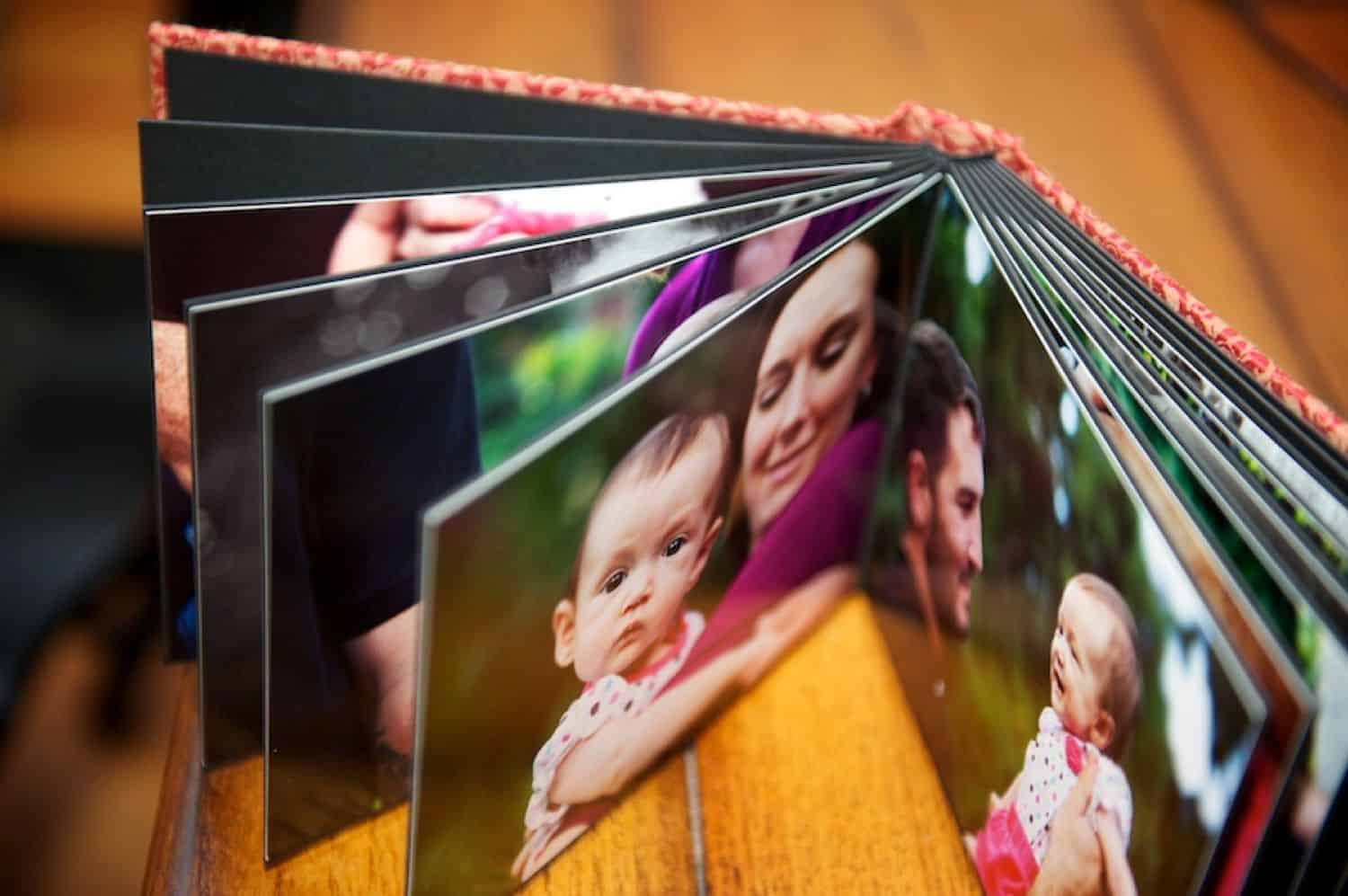 "The Blumes offer a simple photography ""brag book"" with one image per page."