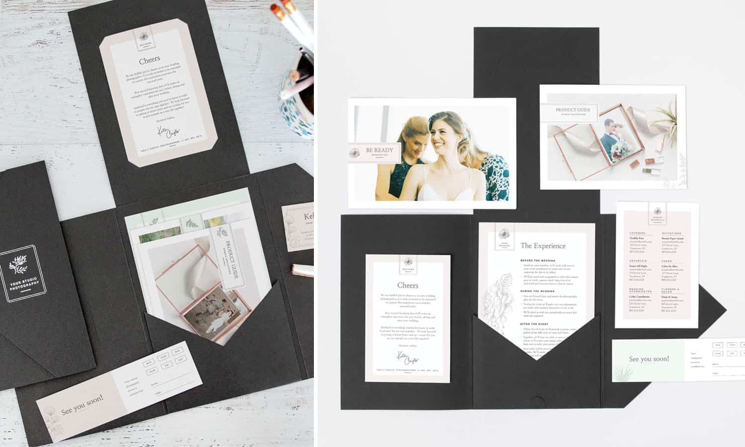 The Client Welcome Packet is one of Design Aglow's top-selling photography marketing templates.