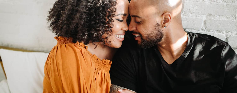 black couple enjoying airbnb