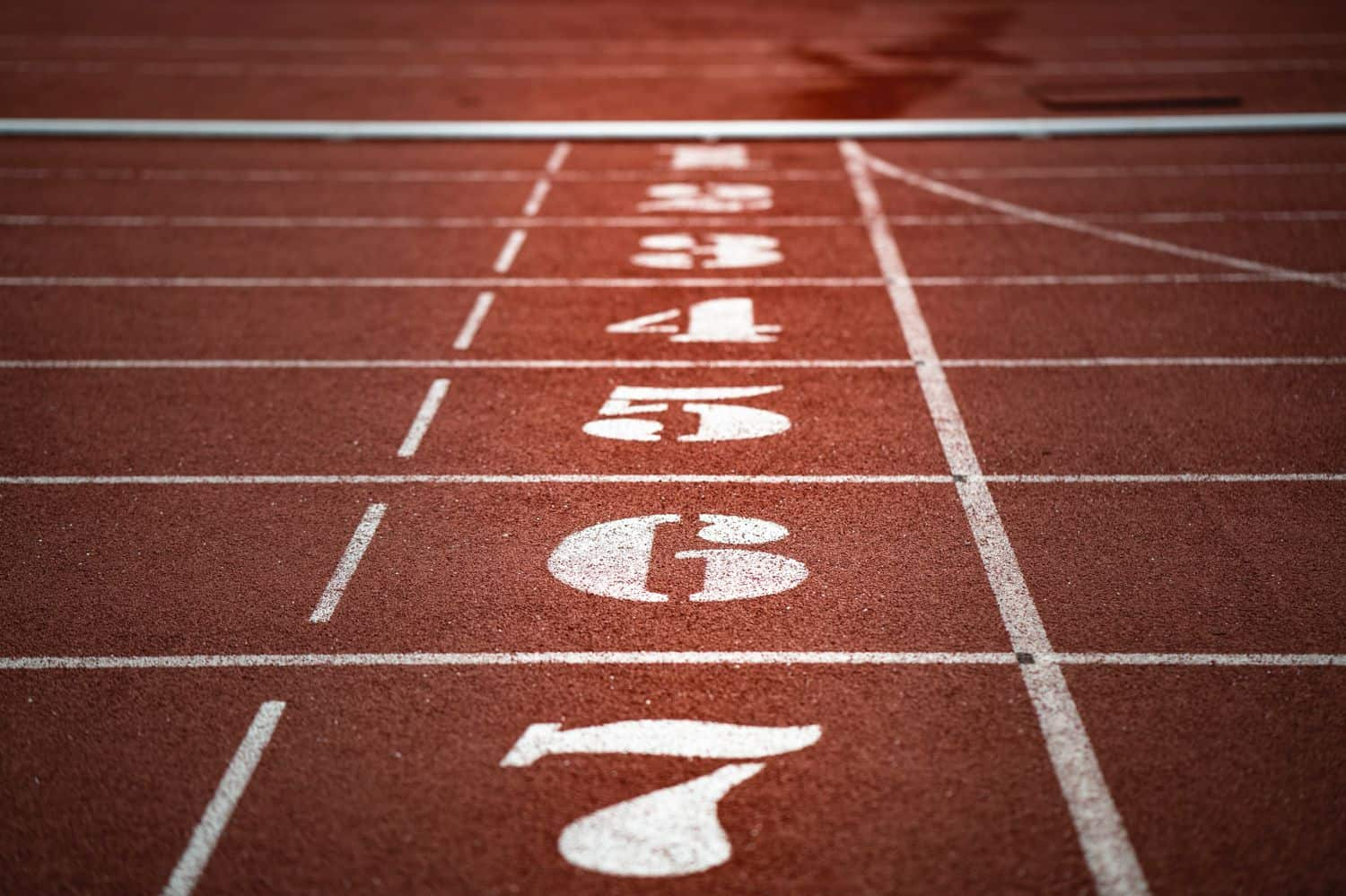 Starting line numbers on running track