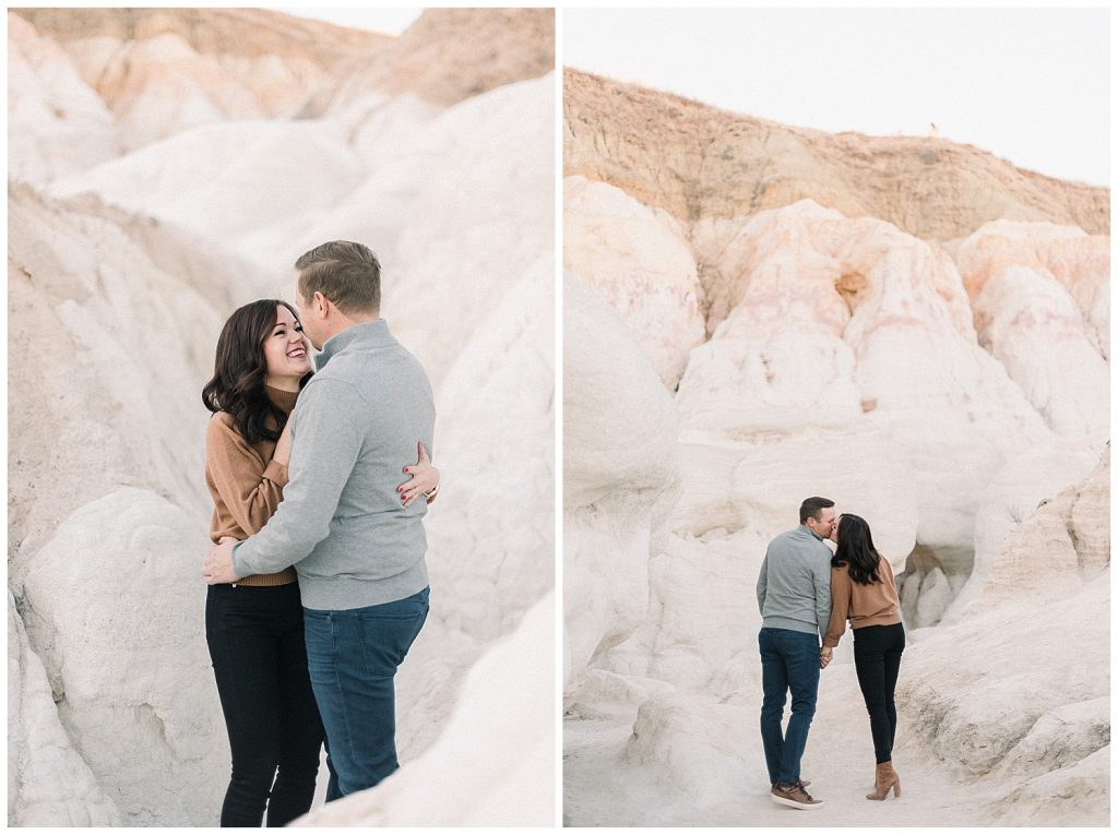 couple in desert mountains