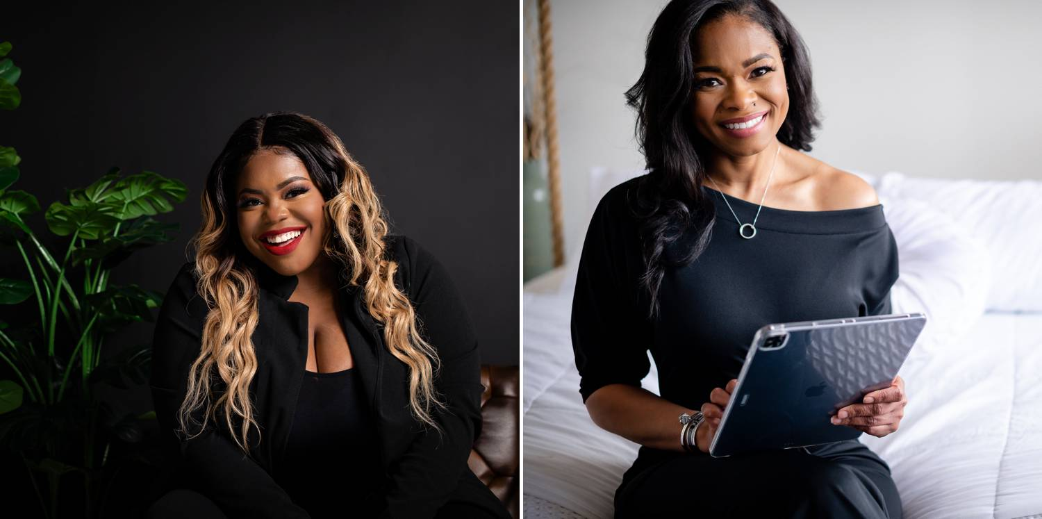 Two Black businesswomen are photographed by LaJune King