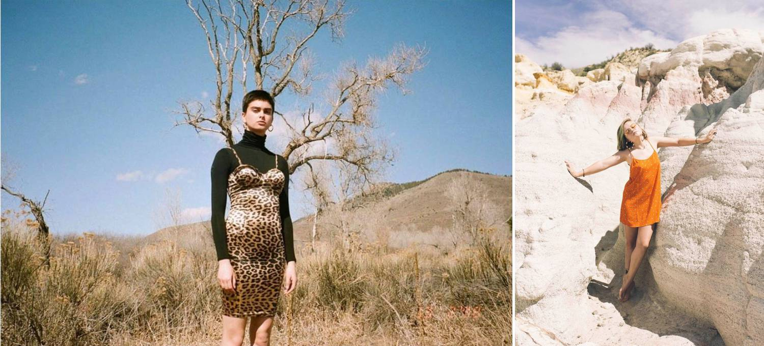 Photos: Havanah Hamilton's images depict women in stylish slip dresses posing in the desert under a hot midday sun.