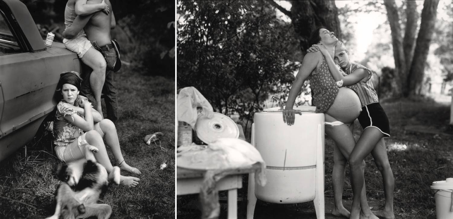 A series of two famous photographs by Sally Mann