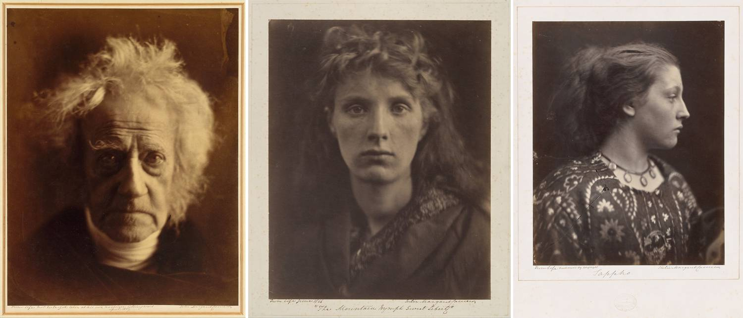 A series of three photographs by Julia Margaret Cameron