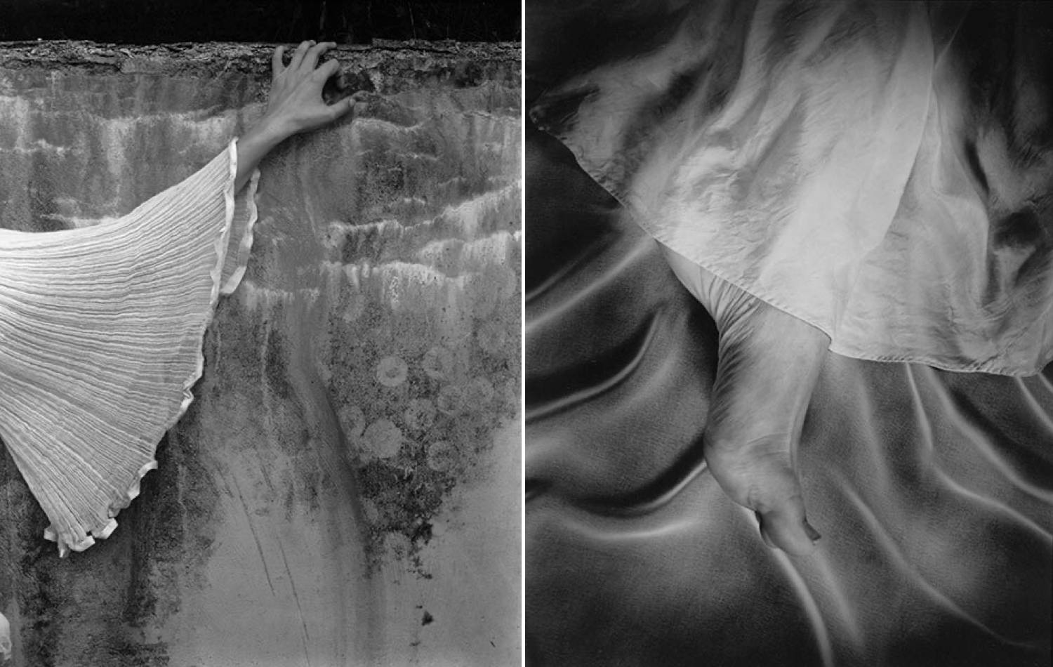 A series of two abstract photographs by Sally Mann