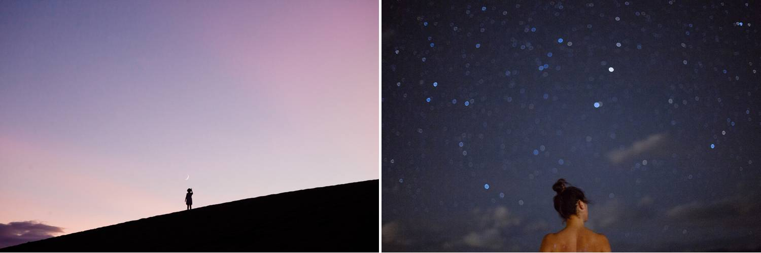 Photos: Our Wild Abandon's photograph depict a lone adventurer wandering beneath a starry night sky.