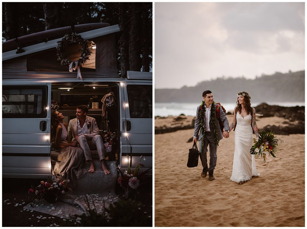 adventure wedding couples