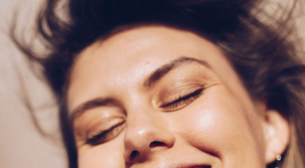 a hazy beauty portrait taken in full sun