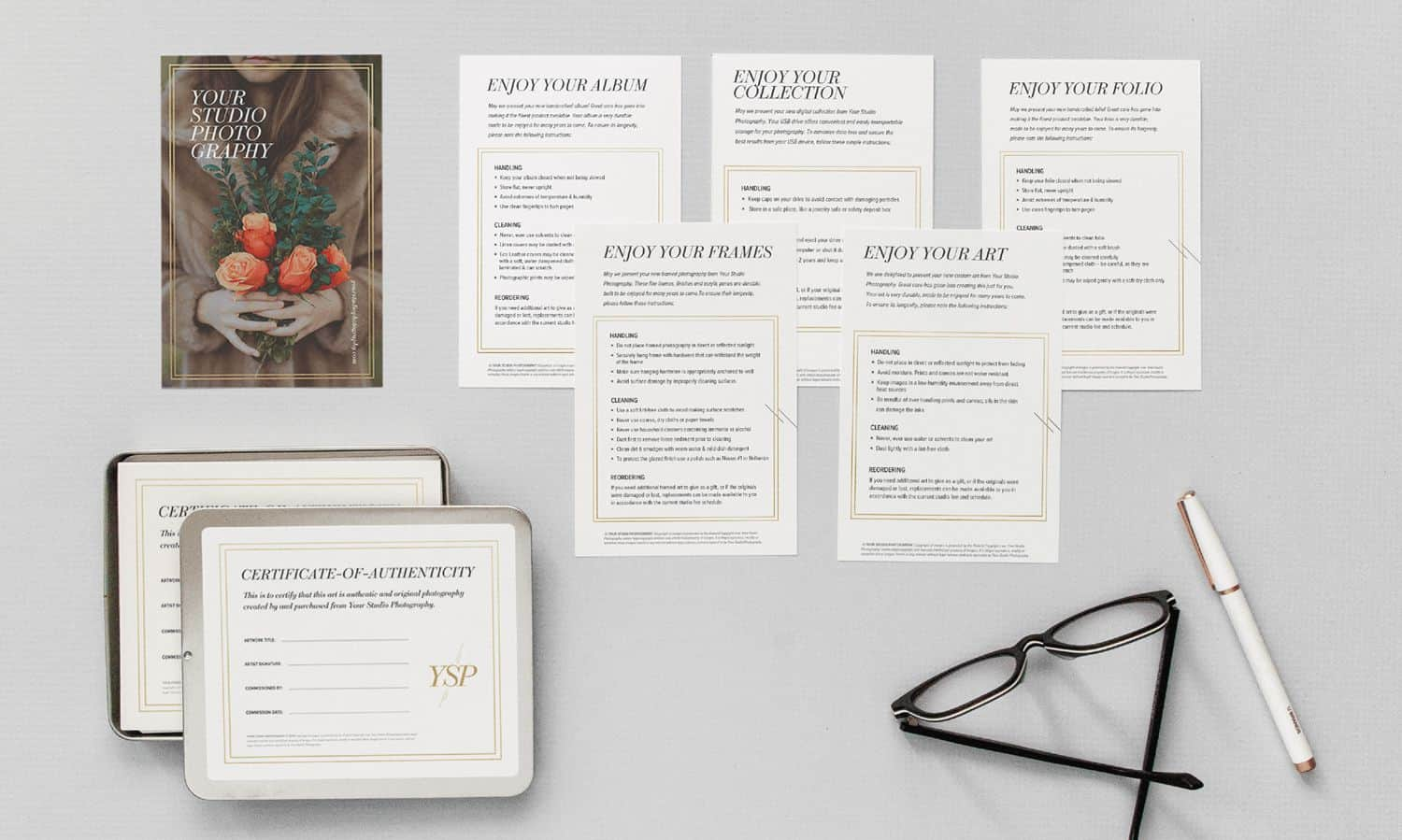 Client care cards by Design Aglow