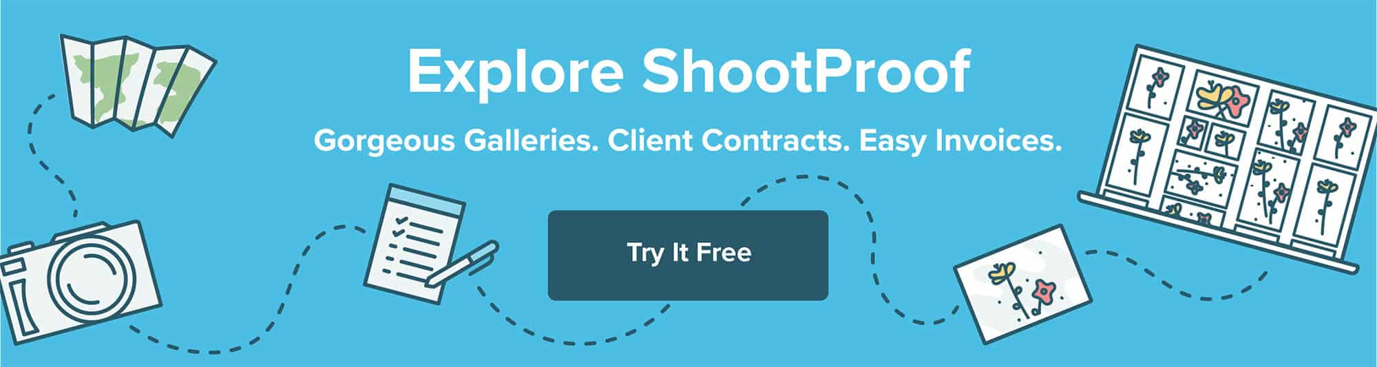Explore ShootProof's gorgeous galleries, client contracts, and easy invoices. Try it for FREE!