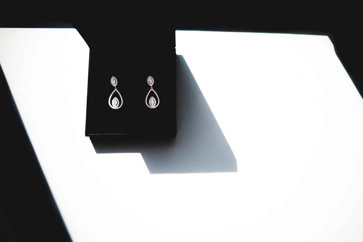 Photography Trends: Black and White Photo of Earrings