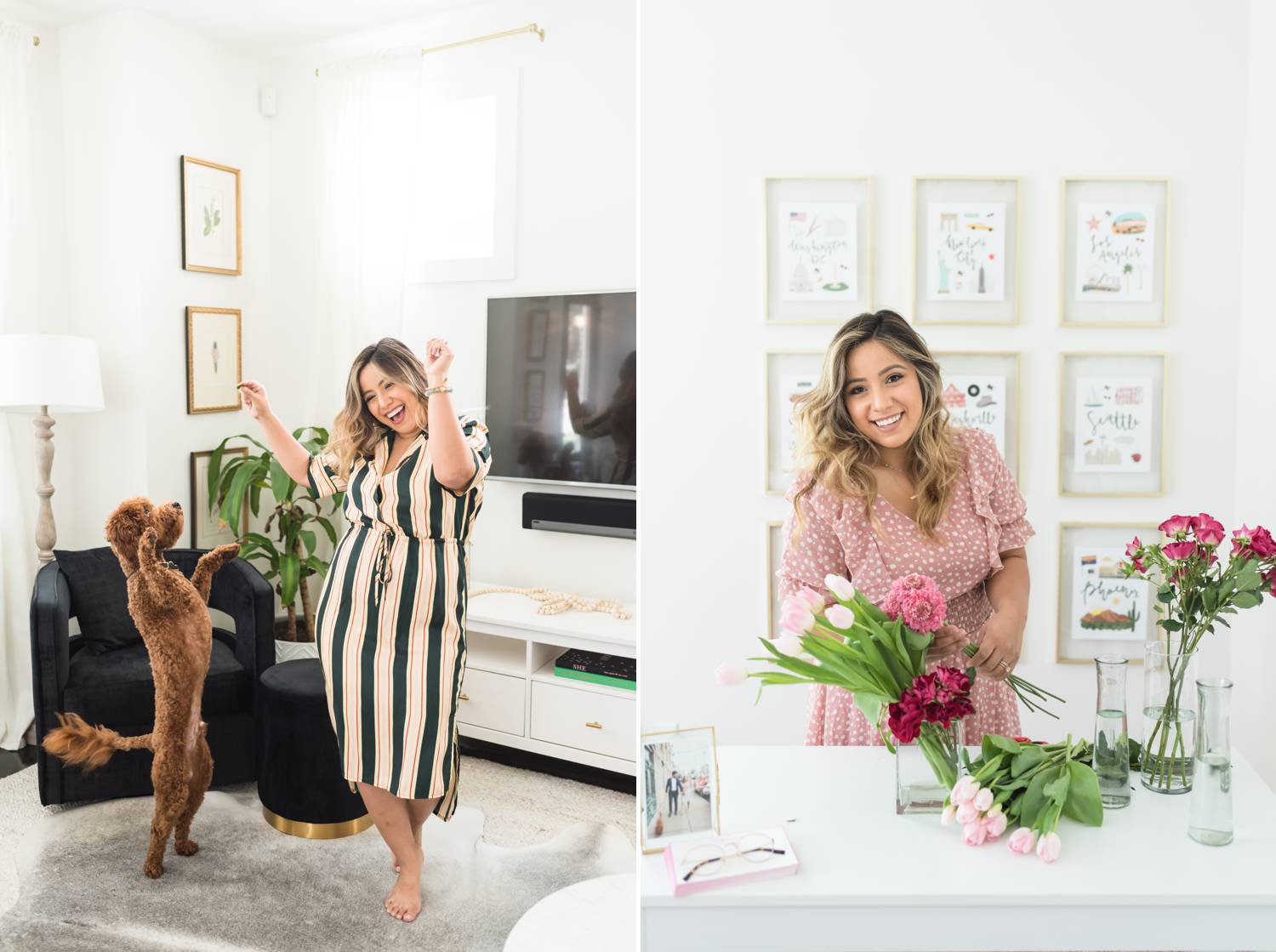 By Mandy Liz: In one photo, a CEO dances in her living room with her dog. In the next photo, the same woman is cutting flowers for her desk. Her business generates excellent client feedback.